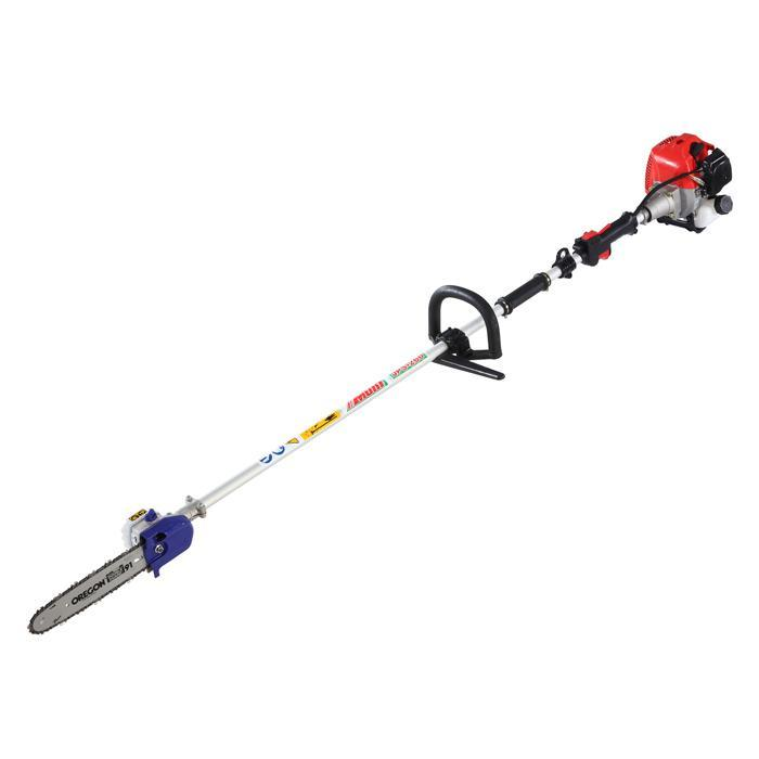 Shoulder type of pole chain saw powered by original Honda engines